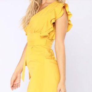 Rachel Zoe Mustard Yellow Jumpsuit
